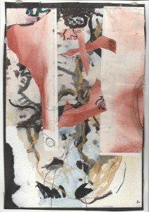 Morceaux d'images de corps humain disposés en désordre